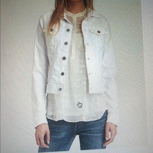 AG Adriano Goldschmied white denim jacket XS